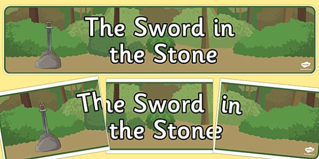 The Sword in the Stone Display Banner - display banner, sword, stone