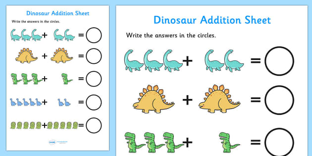 Dinosaur Themed Subtraction Sheet - subtract, take away