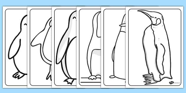 Penguin Colouring Sheets - penguin, colouring, sheets, colour