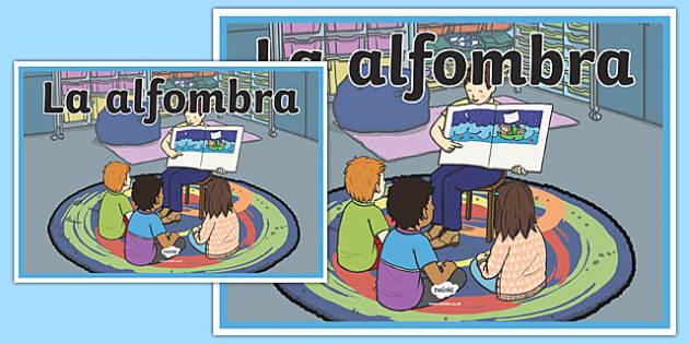 Cartel La alfombra-Spanish