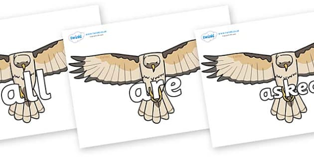 Tricky Words on Hawks - Tricky words, DfES Letters and Sounds, Letters and sounds, display, words