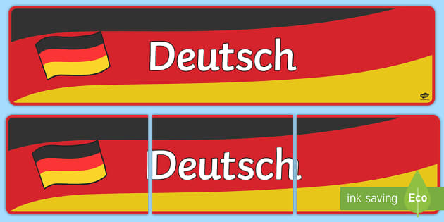 German Display Banner (Deutsch) - MFL, German, Modern Foreign Languages, foundation,  Deutsch, display, banner, display