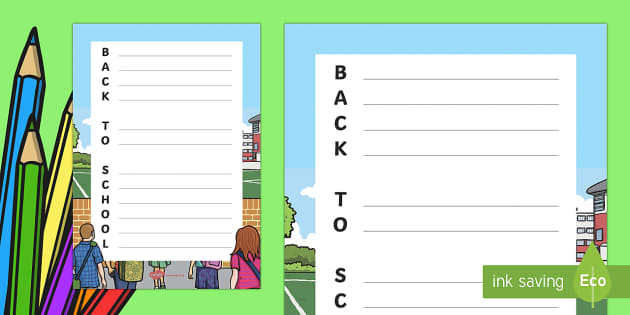 Back to School Acrostic Poem