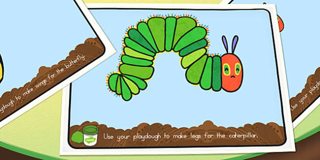 Playdough Mats to Support Teaching on The Very Hungry Caterpillar - australia, hungry, caterpillar