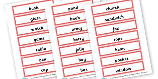 Singular Nouns Word Cards - KS2 Nouns, Words and Vocabulary, Literacy, KS2 English