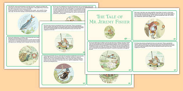 The Tale of Mr Jeremy Fisher Story Cards - beatrix potter, traditional, tale, frog, fun, story, retell, sequence, order, structure, english, writing, reading, ks1, key stage 1, early years,