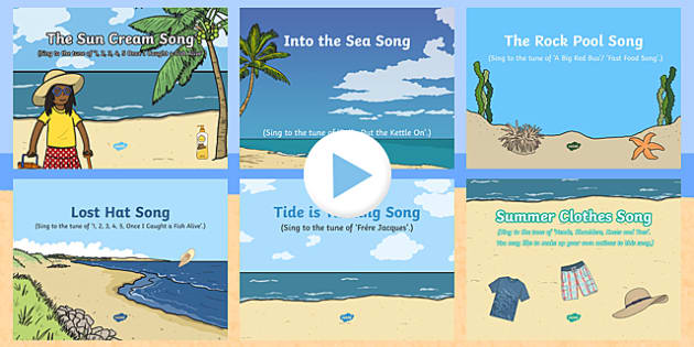 The Seaside Themed Songs and Rhymes PowerPoints Pack
