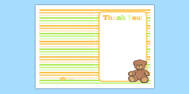 Baby Shower Thank You Card - baby shower, baby, shower, newborn, pregnancy, new parents, thank you card