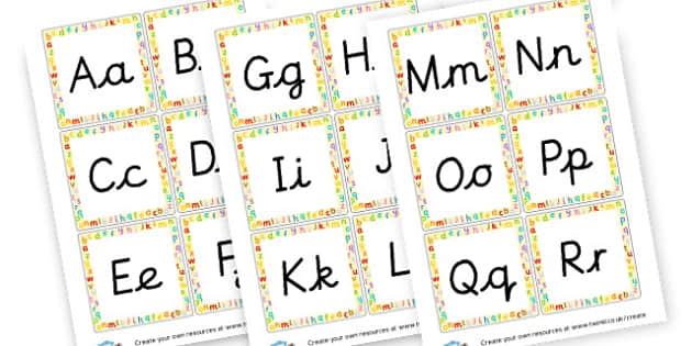 Cursive Alphabet - Alphabet Primary Resources - letters, phonics, literacy, display