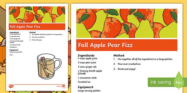 Fall Apple Pear Fizz Recipe