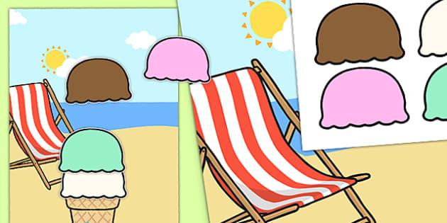 Ice Cream Scoop Reward Chart - ice cream scoop, reward, chart, ice cream