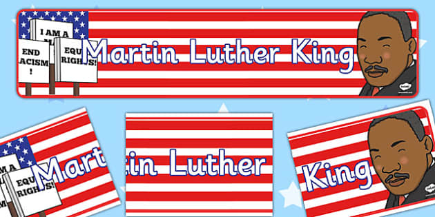 Martin Luther King Display Banner - Martin, Luther, King, Banner