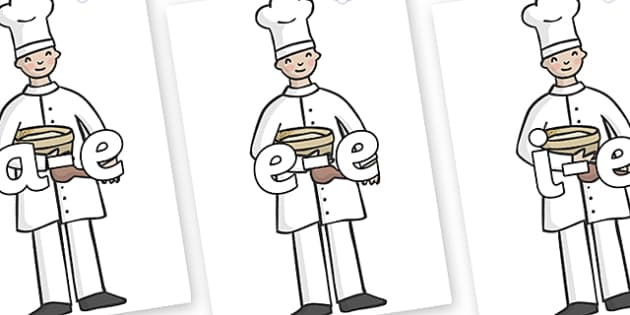 Modifying E Letters on Bakers - Modifying E, letters, modify, Phase 5, Phase five, alternative spellings for phonemes, DfES letters and Sounds