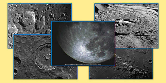 Lunar Craters Photo Pack - lunar craters, photo pack, photo, pack