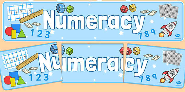 Numeracy Display Banner - Numeracy, display banner, maths display banner, mathematics display banner, numeracy banner, numeracy display