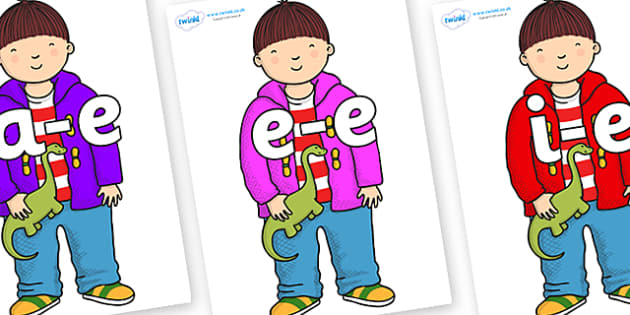 Modifying E Letters on Harry to Support Teaching on Harry and the Bucketful of Dinosaurs - Modifying E, letters, modify, Phase 5, Phase five, alternative spellings for phonemes, DfES letters and Sounds