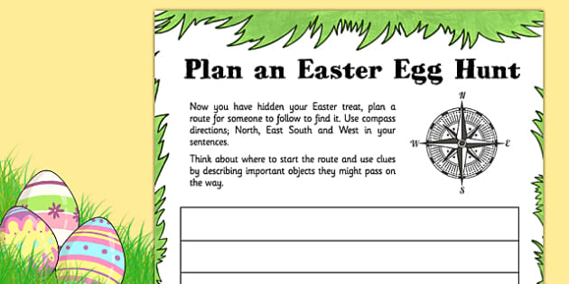 Plan an Easter Egg Hunt - plan, easter, egg, hunt, activity