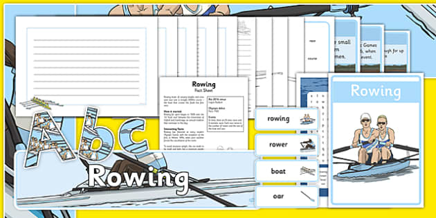 The Olympics Rowing Resource Pack - Rowing, Olympics, Olympic Games, sports, Olympic, London, 2012, resource pack, pack resources, activity, Olympic torch, events, flag, countries, medal, Olympic Rings, mascots, flame, compete