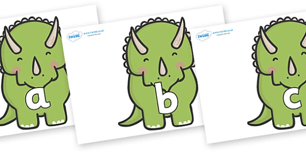 Phase 2 Phonemes on Triceratops Dinosaurs - Phonemes, phoneme, Phase 2, Phase two, Foundation, Literacy, Letters and Sounds, DfES, display