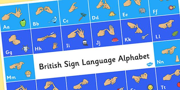 British Sign Language Alphabet Mat - alphabet, mat, sign language
