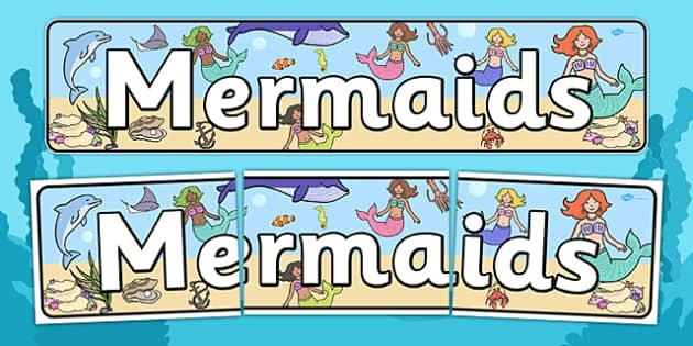 Mermaids Display Banner - fantasy, fairy tales, header, display