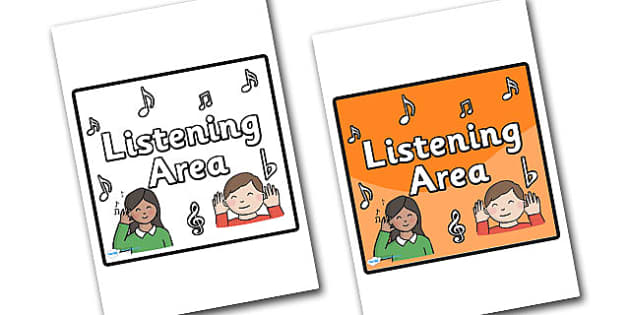 Listening Area Sign - sign, display sign, area display sign, area sign, area, classroom areas, school areas, classroom area signs, topic signs, topic area signs