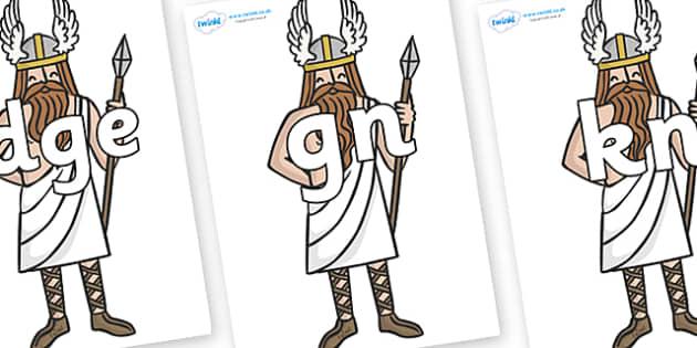 Silent Letters on Viking Gods - Silent Letters, silent letter, letter blend, consonant, consonants, digraph, trigraph, A-Z letters, literacy, alphabet, letters, alternative sounds