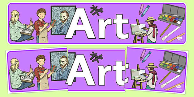 Art Display Banner - displays, banners, posters, visual aids