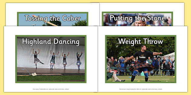 Highland Games Photo Display Pack - CfE, Highland, Scotland, games, sports, heritage, culture
