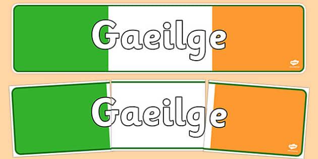 Gaeilge Display Banner - gaeilge, display banner, display, banner, language, irish
