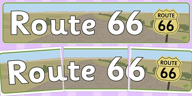 Route 66 Display Banner - route 66, display banner, display, banner