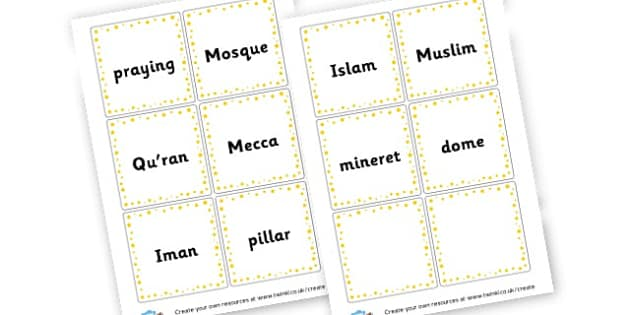 Muslim Word Cards - KS2 Islam Visual Aids Primary Resources, Religious Education, RE
