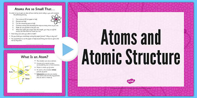 Atoms Presentation - atoms, structure, presentation, powerpoint, atoms presentation