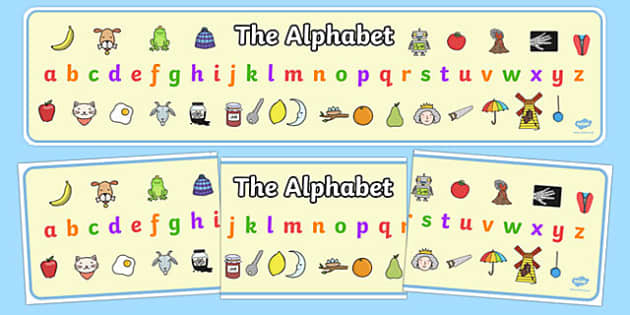 Alphabet Display Banner - Alphabet Banner, Alphabet display, A-Z banner, sign, display, DfES Letters and Sounds, Letters and sounds, Letters A-Z, Learning Letters