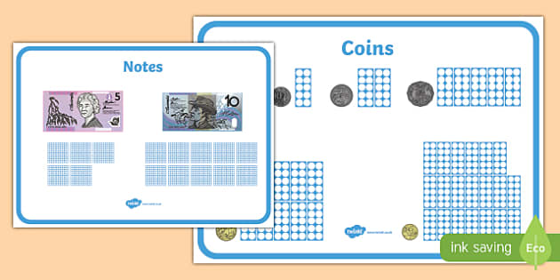 Maths Intervention Money Mats - australia, SEN, special needs, maths, money, counting money, recognising money, adding money, coins, notes