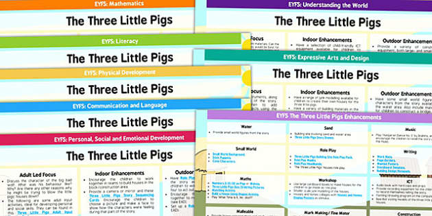 EYFS The Three Little Pigs Lesson Plan and Enhancement Ideas - the thre little pigs, lesson plan, lesson plan ideas, lesson ideas, lesson planning, teaching plan, EYFS, ideas