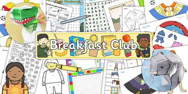 Breakfast Club Activity Pack - breakfast club, activities, pack