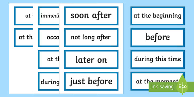Stage 2 Procedure Language to Indicate Time Sequence Word Cards-Australia