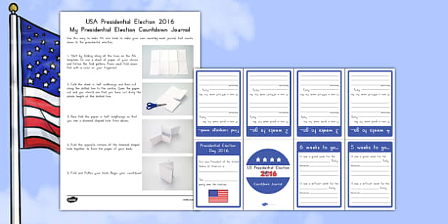 My Presidential Election Countdown Journal Activity Booklet