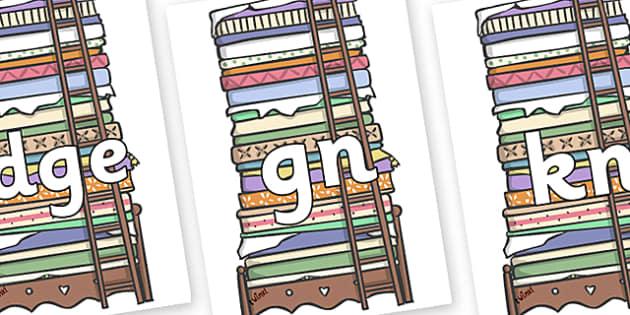 Silent Letters on Beds - Silent Letters, silent letter, letter blend, consonant, consonants, digraph, trigraph, A-Z letters, literacy, alphabet, letters, alternative sounds