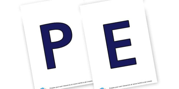 PE - display lettering - PE (Physical Education) Primary Resources, physical development