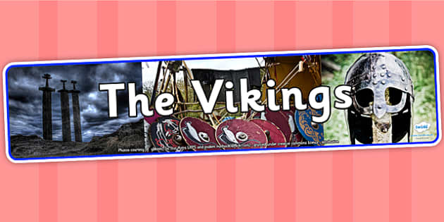 The Vikings Photo Display Banner - vikings, photo display banner, display banner, display, banner, photo banner, header, display header, photo header, photo