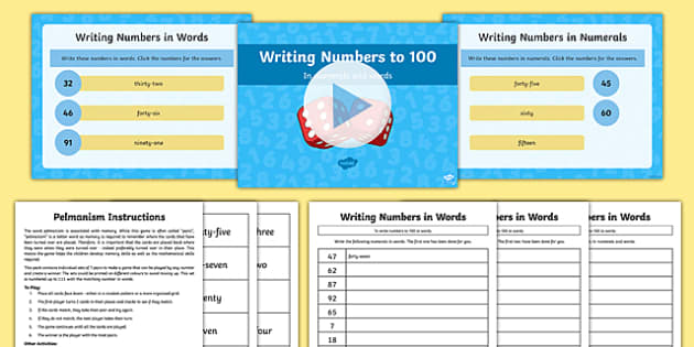 Y2 Maths Write Numbers Least 100 Numerals and Words Lesson Pack