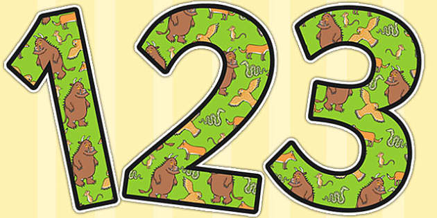 The Gruffalo Themed Display Numbers - the gruffalo, display numbers, the gruffalo themed display numbers, the gruffalo display numbers