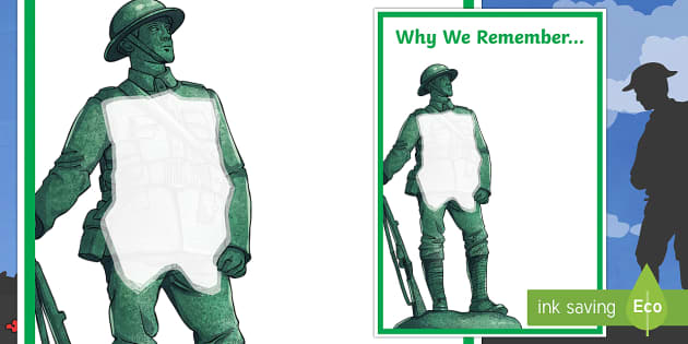 Remembrance Day Why We Remember Large Display Poster