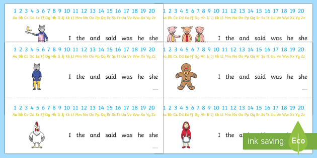 Combined Number and Alphabet Strips to Support Teaching on Mr Wolfs Pancakes - numbers