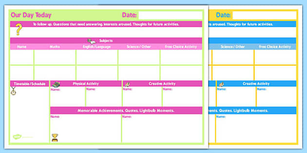 Daily 2 Child Planner - child, planner, daily, 2 child, plan
