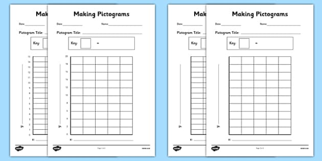Making Pictograms Templates - making pictograms, make, pictogram, maths, numeracy, ks2