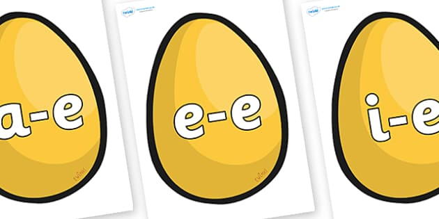 Modifying E Letters on Golden Egg - Modifying E, letters, modify, Phase 5, Phase five, alternative spellings for phonemes, DfES letters and Sounds