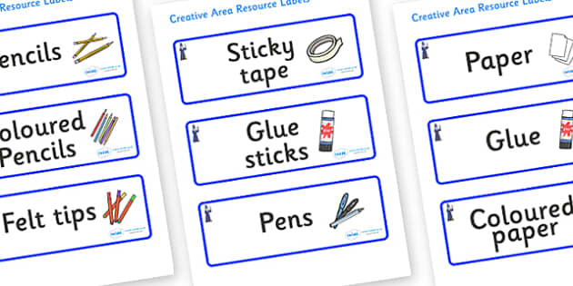 Wizard Themed Editable Creative Area Resource Labels - Themed creative resource labels, Label template, Resource Label, Name Labels, Editable Labels, Drawer Labels, KS1 Labels, Foundation Labels, Foundation Stage Labels